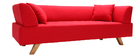 Design-Sofa 3 Plätze Rot ARTIC
