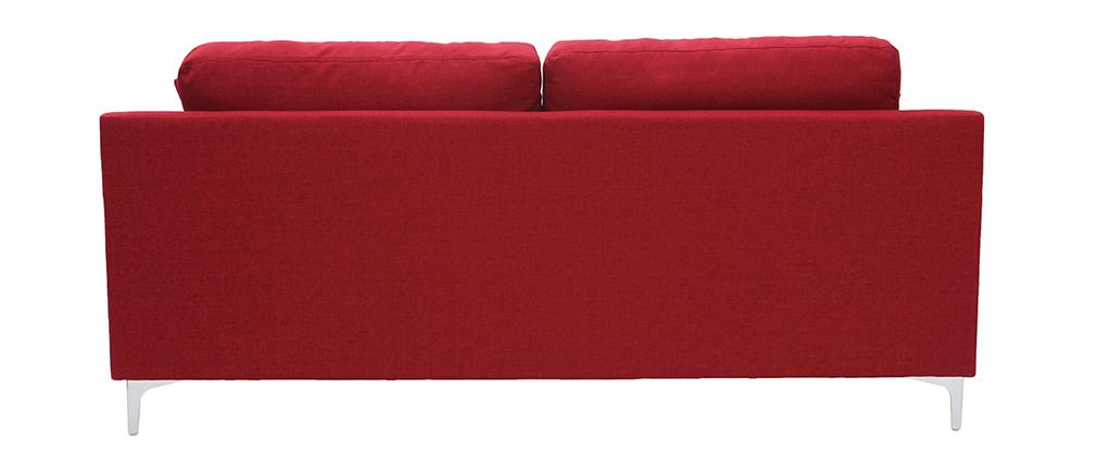 Design-Sofa 3-Sitzer aus rotem Stoff BOMEN