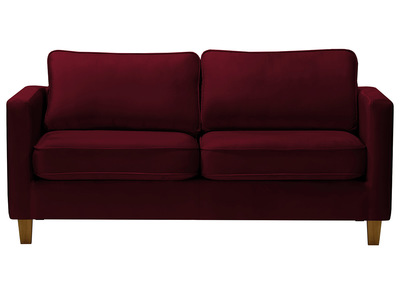 Design-Sofa 3-Sitzer Velours Bordeaux LYRIC