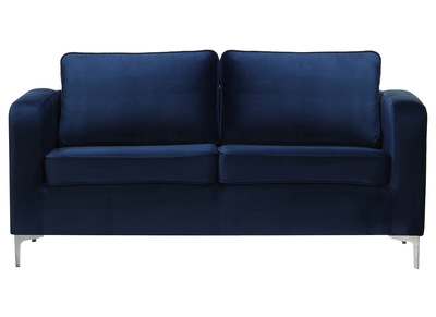 Design-Sofa 3-Sitzer Velours Dunkelblau HARRY