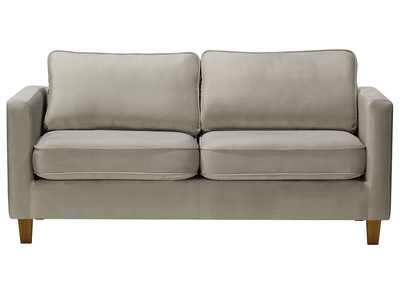 Design-Sofa 3-Sitzer Velours Hellgrau LYRIC