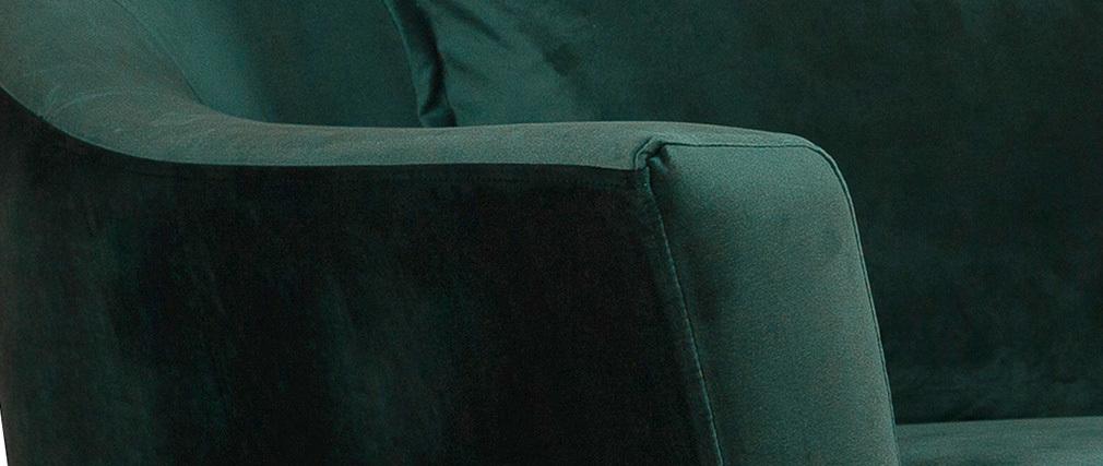 Design-Sofa 3 Sitzplätze waldgrünes Velours FOLIES