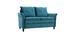 Design-Sofa aus Velours Petrolblau 2 Plätze CLIFF ? Miliboo |1| Stéphane Plaza