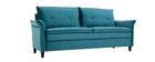 Design-Sofa aus Velours Petrolblau 3 Plätze CLIFF ? Miliboo |1| Stéphane Plaza