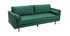 Design-Sofa fixiert - 3?4 Plätze - Velours Midnight Green - IMPERIAL