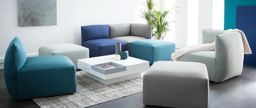 Design-Sofa Modular Grau 2-Sitzer MODULO
