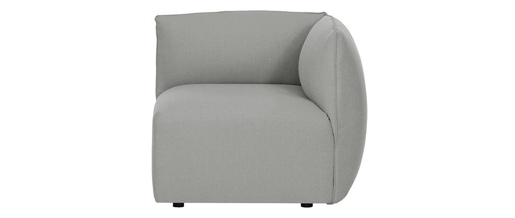 Design-Sofa Modular Grau 3-Sitzer MODULO