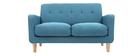 Design-Sofa skandinavisch blaugrüner Stoff 2-Sitzer LUNA