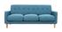 Design-Sofa skandinavisch blaugrüner Stoff 3-Sitzer LUNA