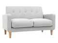 Design-Sofa skandinavisch hellgrauer Stoff 2-Sitzer LUNA