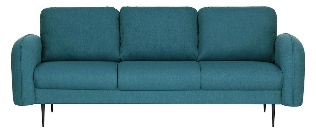 Design-Sofa Stoff Blaugrün 3-Sitzer SIDI