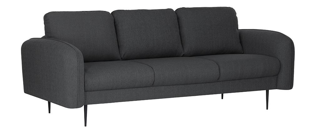 Design-Sofa Stoff Dunkelgrau 3-Sitzer SIDI