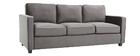 Design-Sofa Velours Dunkelgrau 3-Sitzer BROOKLYN