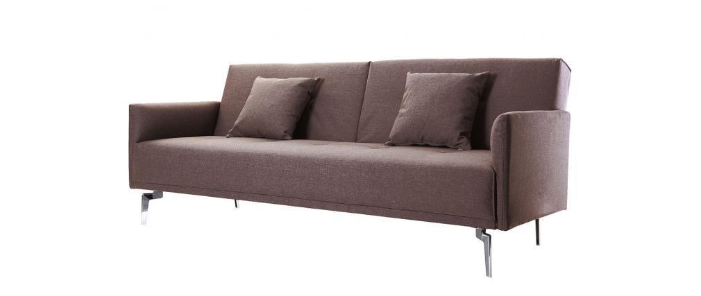 Design-Sofa verstellbar 3 Plätze Hellbraun ELIN