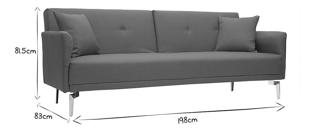 Design-Sofa verstellbar 3 Plätze Hellgrau ELIN