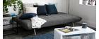 Design-Sofa verstellbar Dunkelgrau OVE