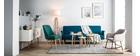 Design-Sofa verstellbar Naturfarben OSCAR