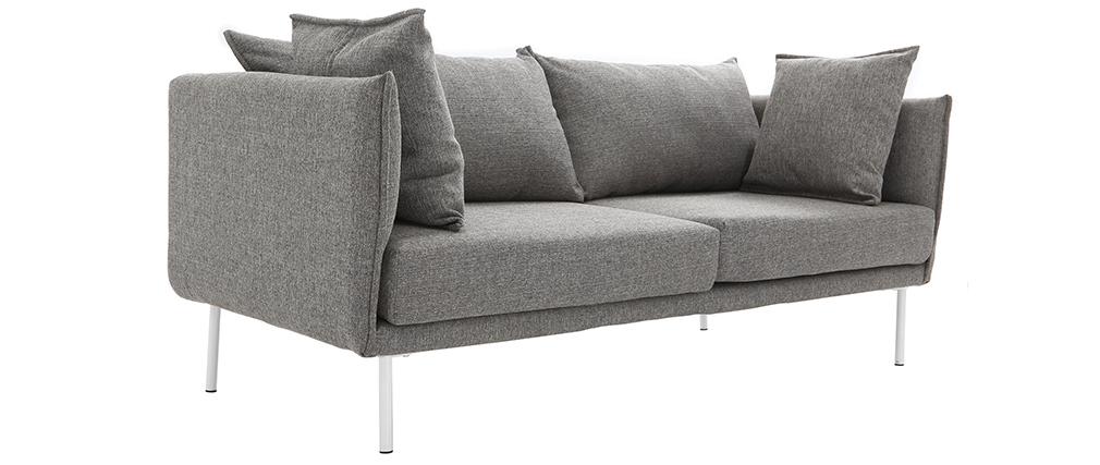 Design-Sofa zeitgenössisch 3 Plätze Hellgrau MATHIS