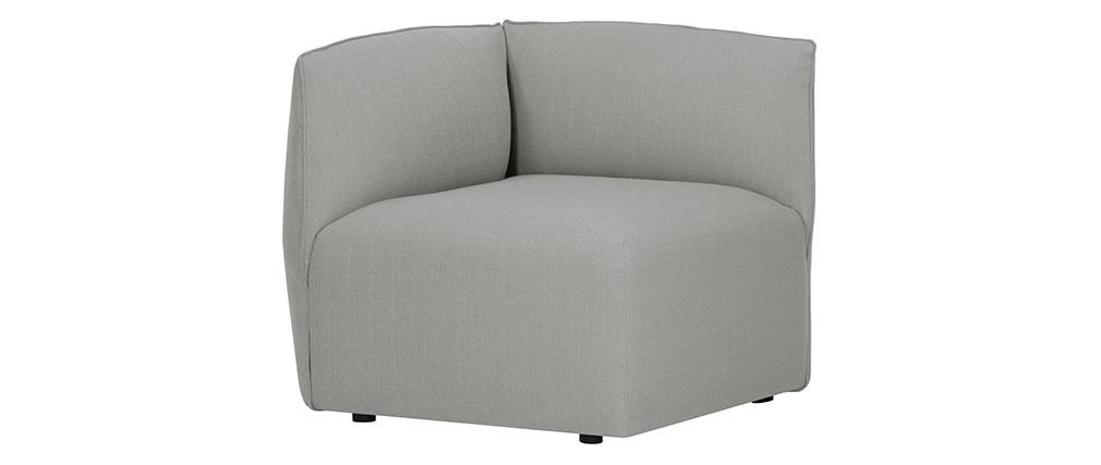 Design-Sofaecke Stoff Grau MODULO