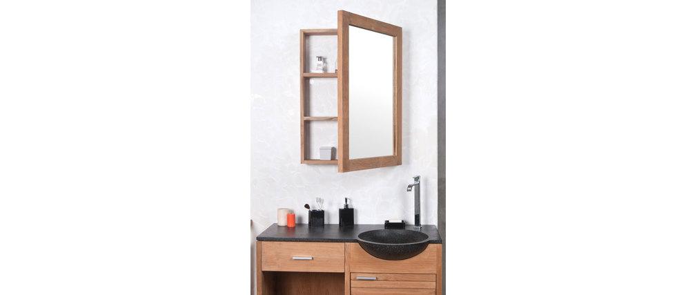 Design-Spiegel Badezimmer Teakholz ARIKA