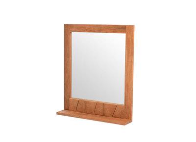 Design-Spiegel Badezimmer Teakholz ARU