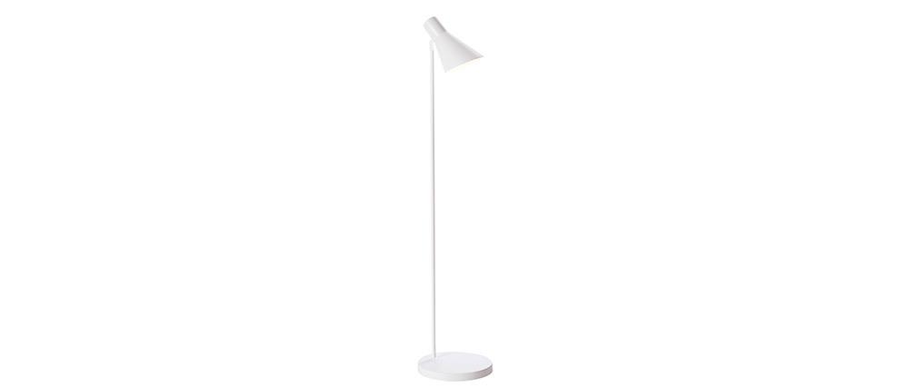 Design-Stehlampe AMPLO aus weißem Metall