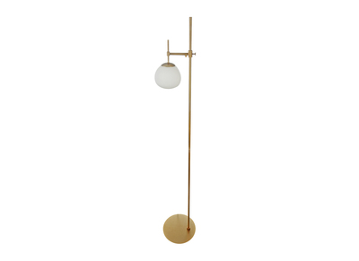 Design Stehlampe Metall vergoldet AUREOL