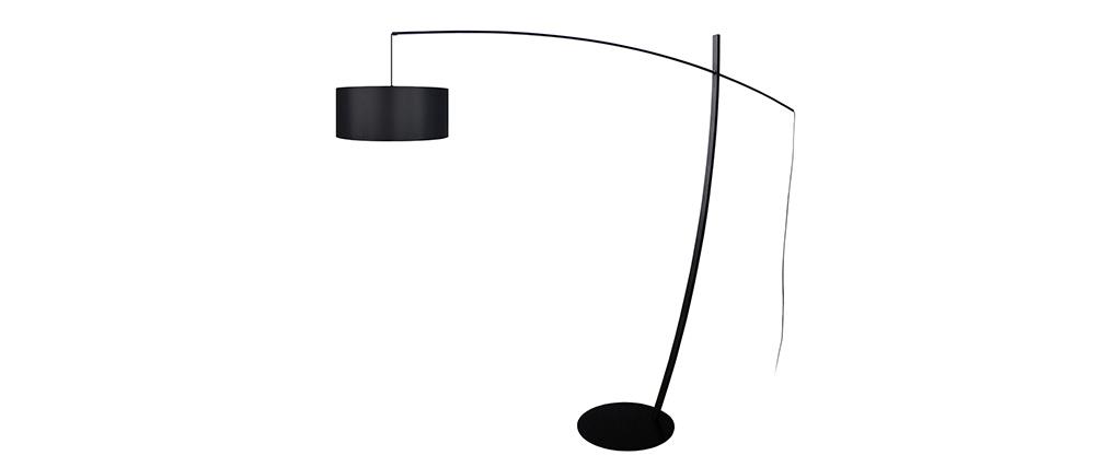 Design-Stehleuchte Bogenlampe Stahl Schwarz ESCAPE