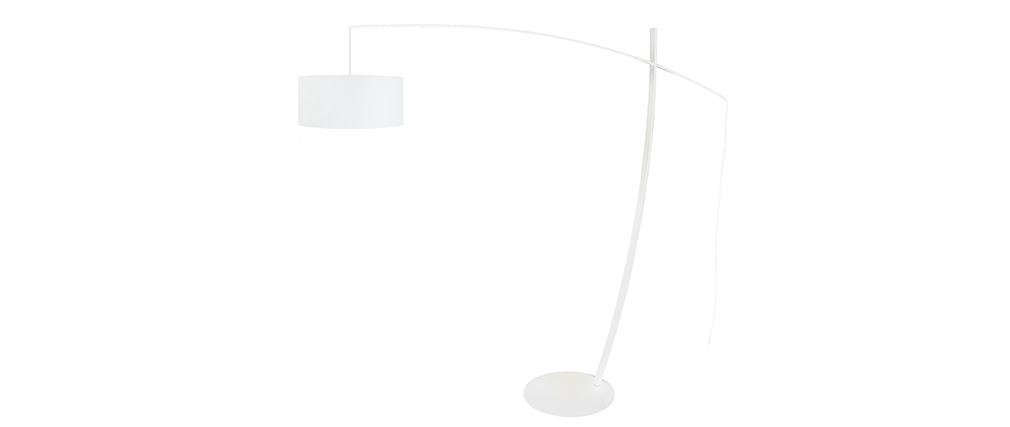 Design-Stehleuchte Bogenlampe Stahl Weiß ESCAPE