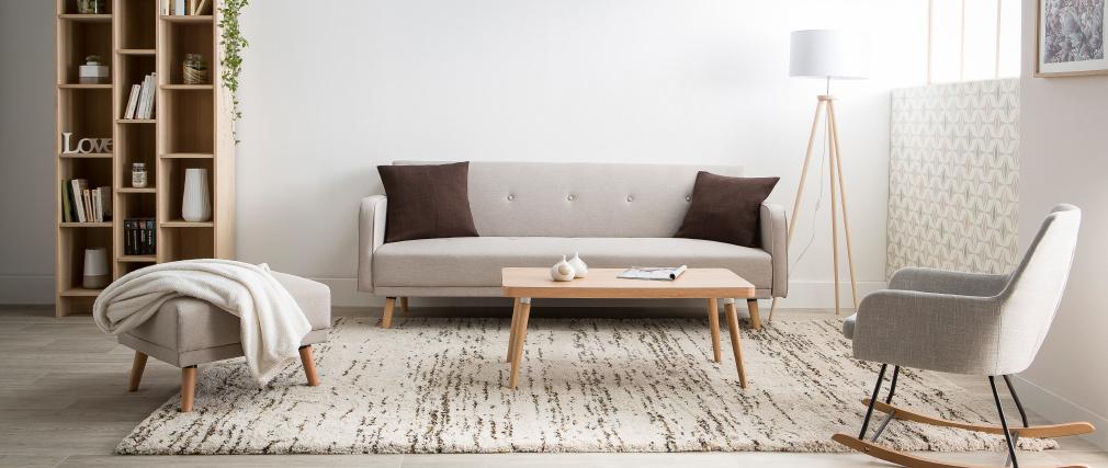 Design-Stehleuchte Dreifuß Holz Natur TRIPOD