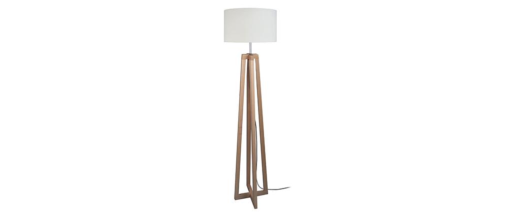 Design-Stehleuchte gekreuzte Füße Holz MANON