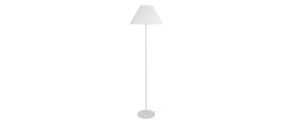 Design-Stehleuchte Stahl Weiß CONEO