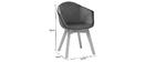 Design-Stuhl aus benzinblauem Samt TAYA