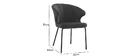 Design-Stuhl aus blauem Samt REQUIEM