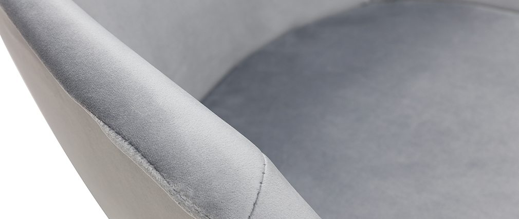 Design-Stuhl aus grauem Samt TAYA
