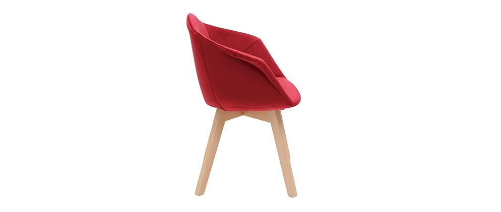 Design-Stuhl aus rotem Samt TAYA