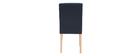 Design-Stuhl gepolstert Stoff Blau 2er-Set ESTER
