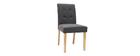 Design-Stuhl gepolstert Stoff dunkle Grau 2er-Set ESTER