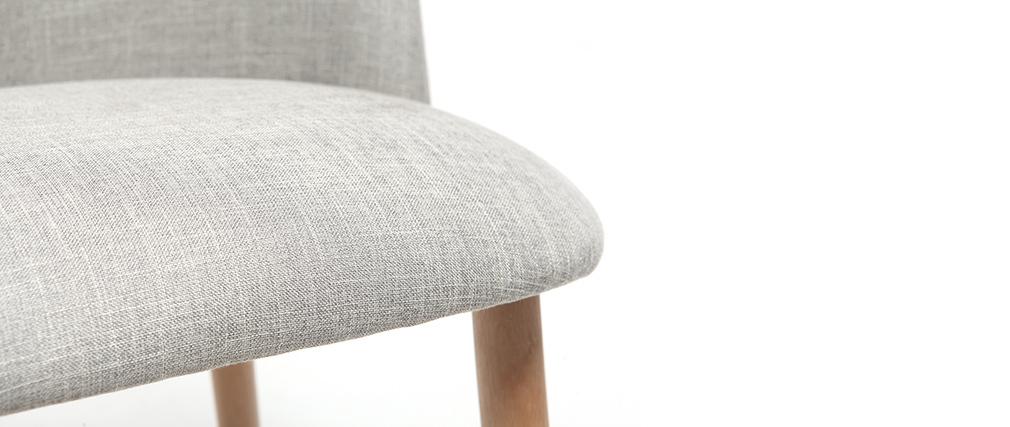 Design-Stuhl Grau und Holz CELESTE