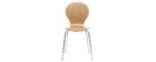 Design-Stuhl helles Holz 2er-Set NEW ABIGAIL