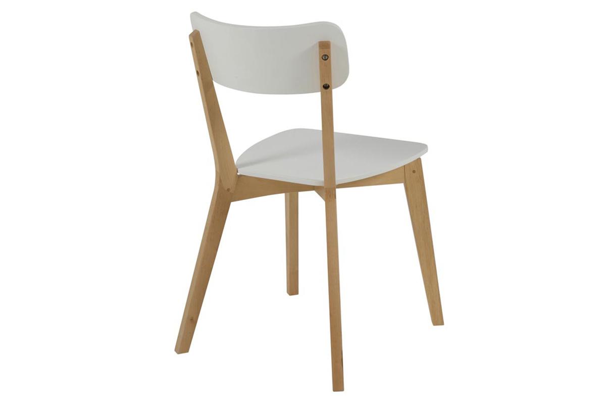 Design Stuhl Holz Und Weiss Lackiert 2er Set Laena Miliboo