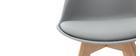 Design-Stuhl Holzbeine Hellgrau 2er-Set PAULINE