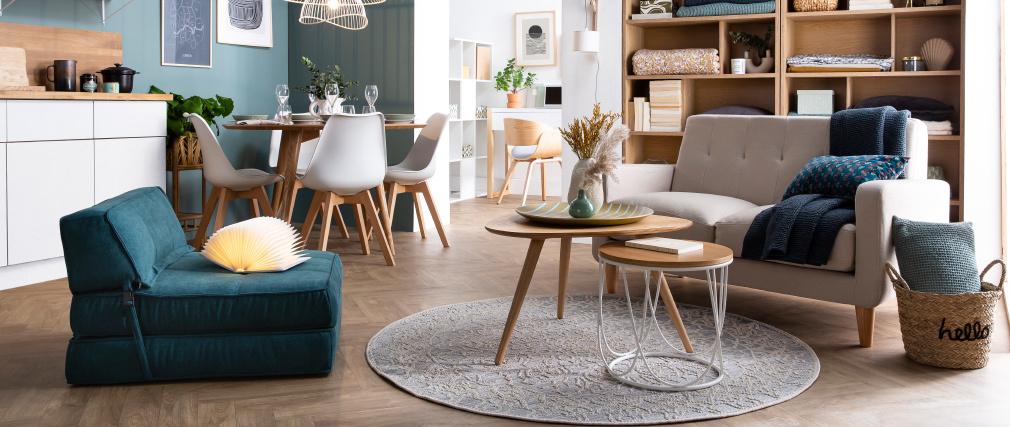 Design-Stuhl Holzbeine Weiß 2er-Set PAULINE