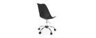 Design-Stuhl mit Rollen Schwarz NEW STEEVY