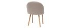 Design-Stuhl Natur und Holz CELESTE