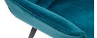 Design-Stuhl petrolblauer Velours und Metallbeine Schwarz VOLO