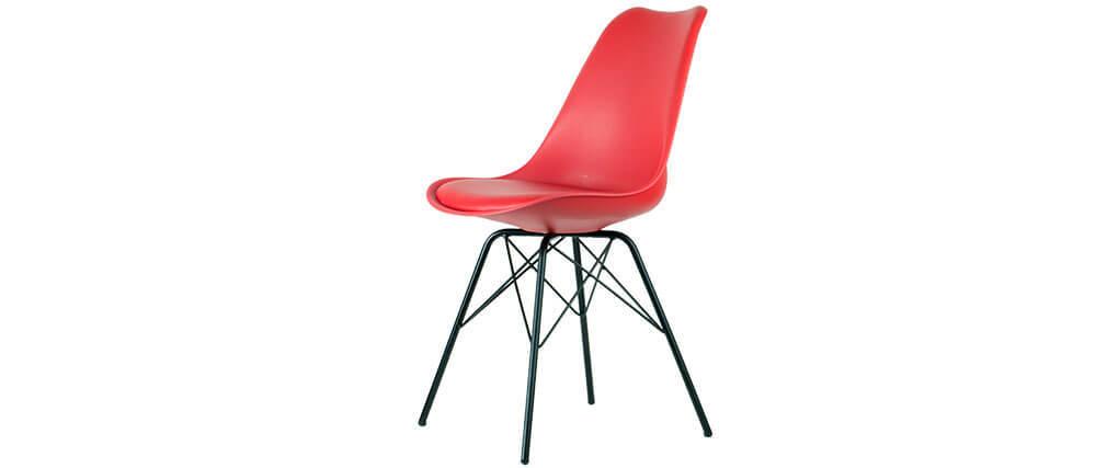 Beine V2 Design Steevy Sternform Miliboo Ewydh2i9 Stuhl Set Rot 2er In Ybg7f6y