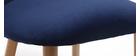 Design-Stuhl Samt Nachtblau und Holz CELESTE