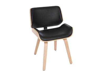 Design-Stuhl, schwarz und helles Holz RUBBENS