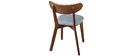 Design-Stuhl Vintage Grau mit Beinen aus Nussbaumholz 2er-Set MARIK